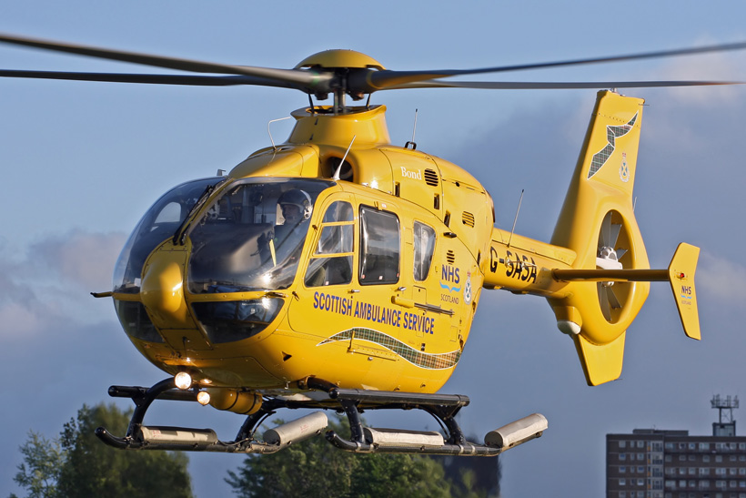 EC135 rescue helicopter, Glasgow, UK