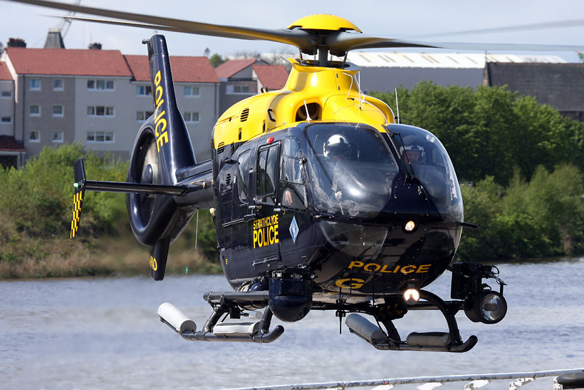 EC135 Police helicopter, Glasgow, UK