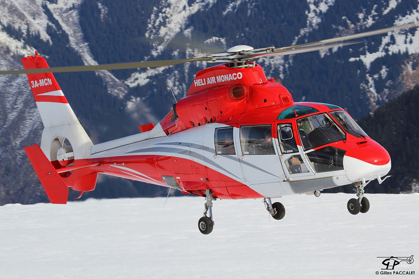 AS365N Dauphin 2 helicopter in French Alps