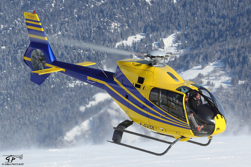 H120 helicopter in French Alps
