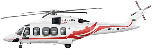 Hélicoptère AW189 de Falcon Aviation