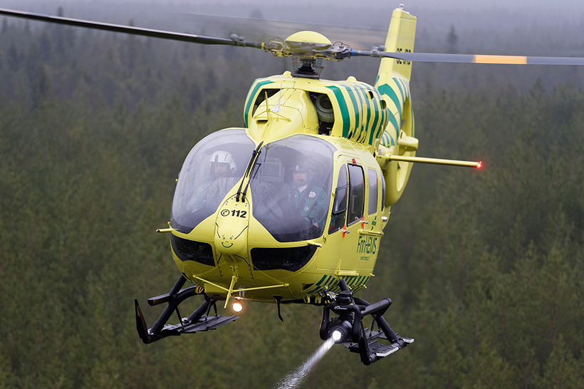 Finnish HEMS H145 helicopter