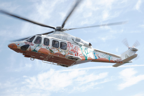 Hélicoptère AW139 ZS-EOS sud-africain