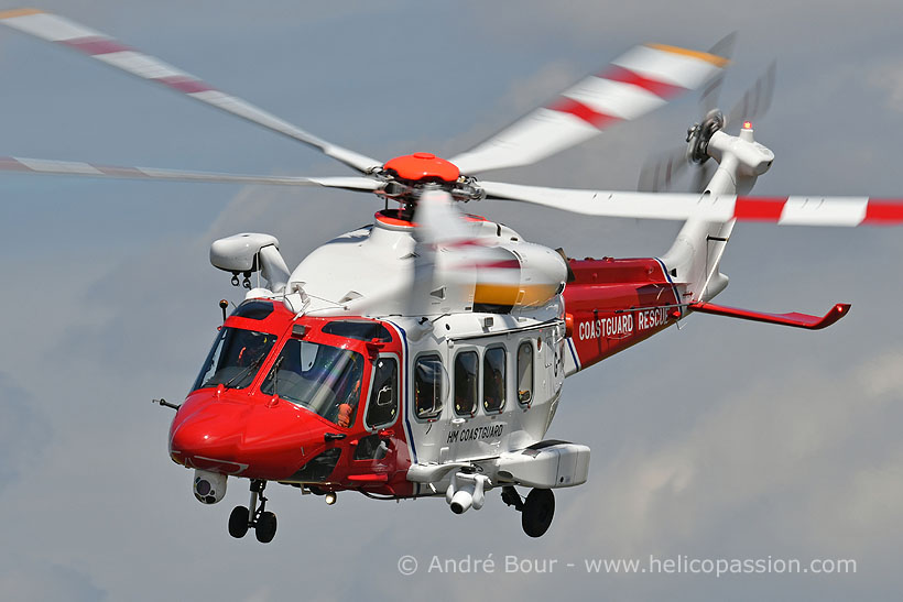 CoastGuard AW189 SAR helicopter, Lee-On-Solent, UK