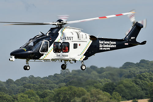 Hélicoptère AW169 de Kent Surrey Sussex Air Ambulance G-KSST