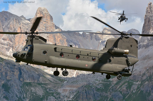 Hélicoptère CH47F Chinook Aviazione Esercito Italian Army Aviation