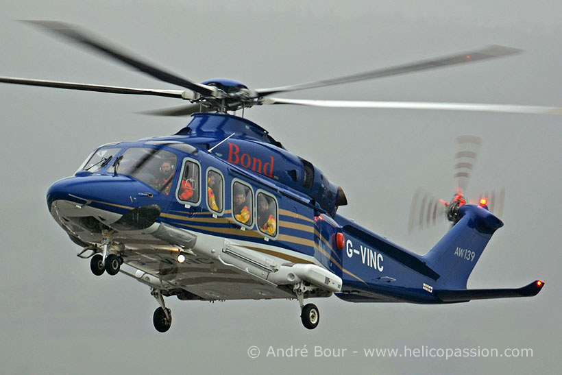 Bond Offshore AW139 helicopter, Norwich, UK