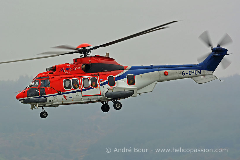 CHC Offshore EC225 helicopter, Aberdeen, UK