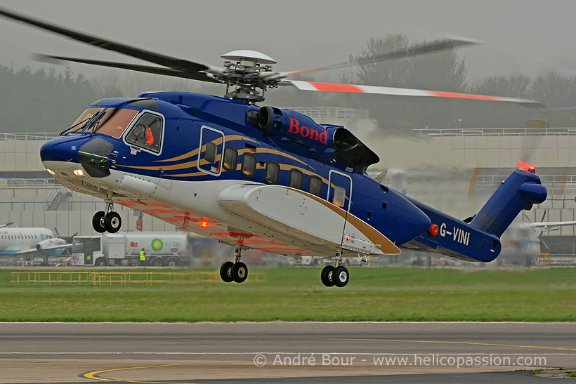 Bond Offshore S92 helicopter, Aberdeen, UK