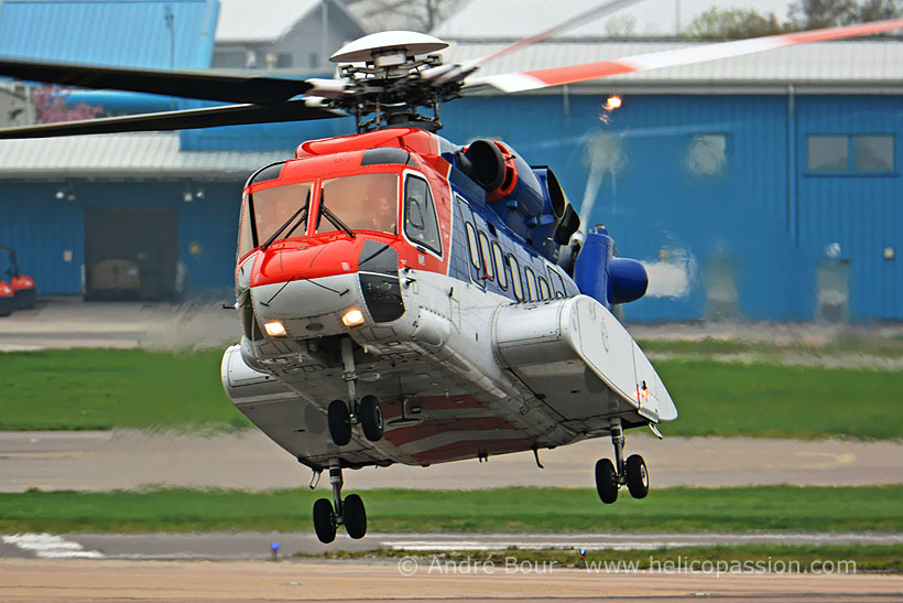 CHC Offshore S92 helicopter, Aberdeen, UK