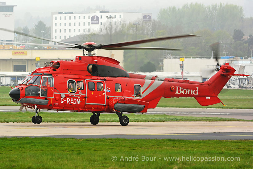 Bond Offshore AS332 SuperPuma helicopter, Aberdeen, UK
