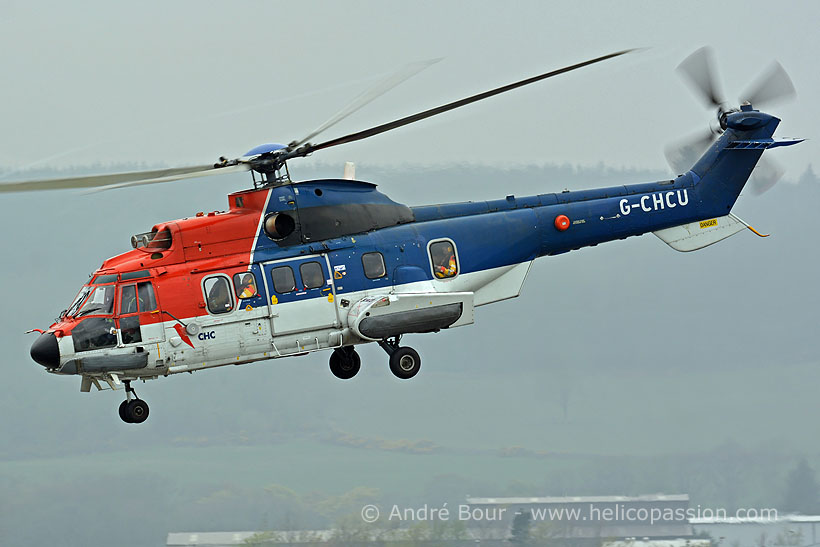 CHC Offshore AS332 SuperPuma helicopter, Aberdeen, UK