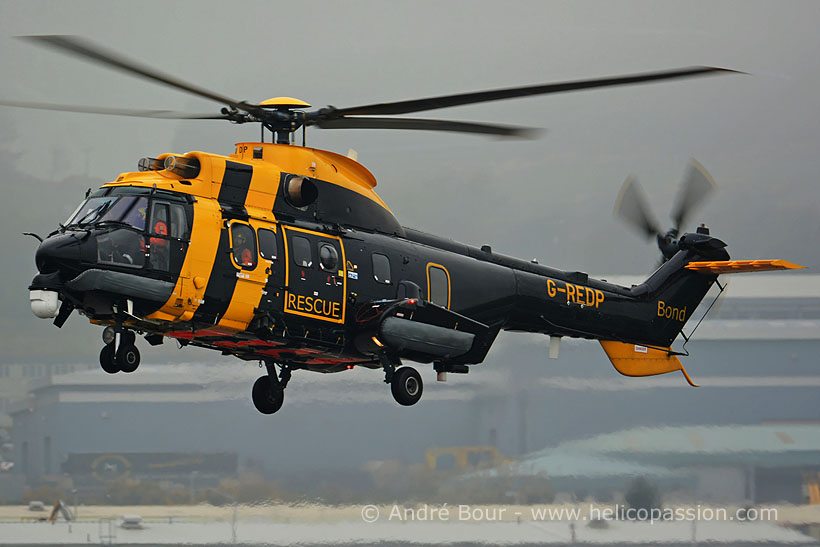 Hélicoptère AS332 SuperPuma SAR G-REDP de BOND