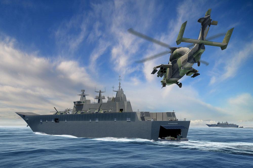 Helico passion assaut partir de la mer australie for Porte helicoptere