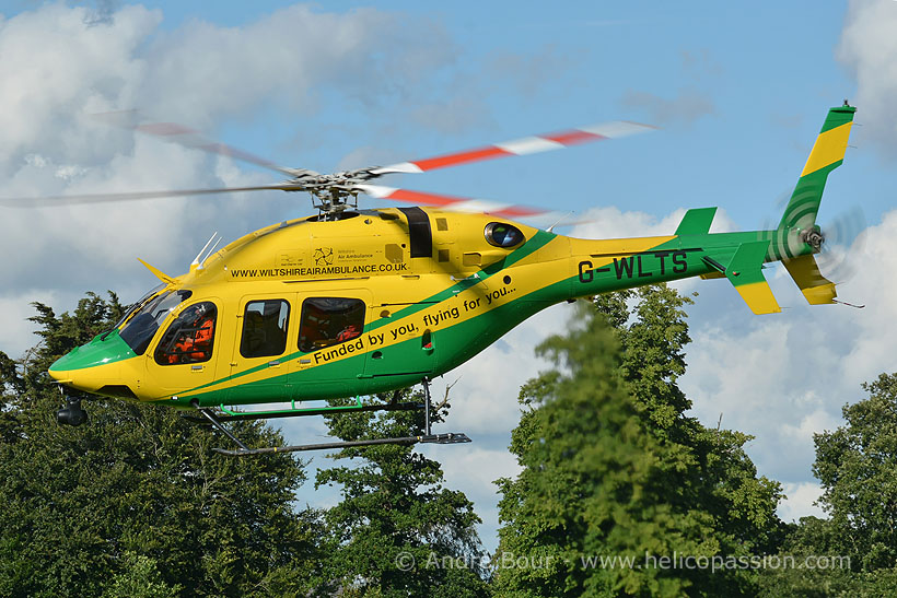Bell 429 rescue helicopter, Devizes, UK