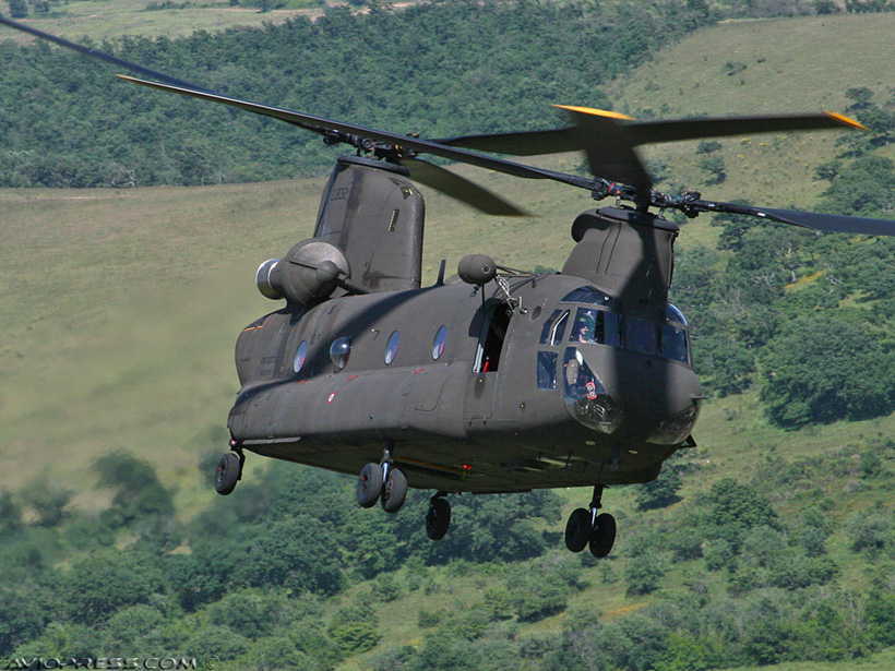 Italian Army CH47 Chinook helicopter