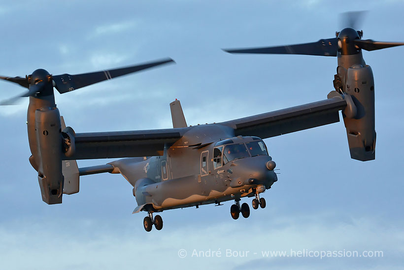 USAF Special Operations CV22 Osprey convertible, Mildenhall, UK