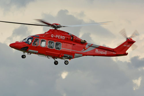 Hélicoptère AW139 G-PERD de BOND OFFSHORE HELICOPTERS