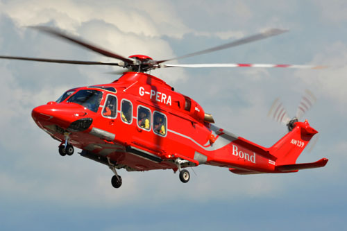 Hélicoptère AW139 G-PERA de BOND OFFSHORE HELICOPTERS