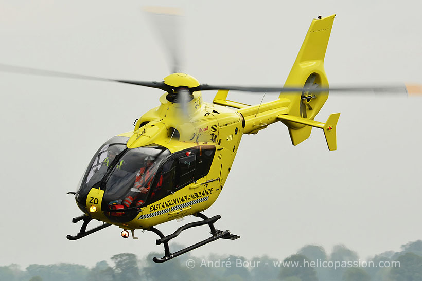 EC135 rescue helicopter, Norwich, UK