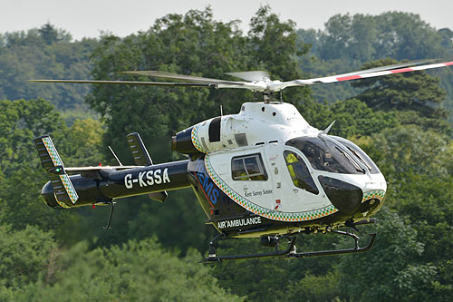 Hélicoptère de secours MD902 Explorer G-KSSA Kent Surrey Sussex Air Ambulance
